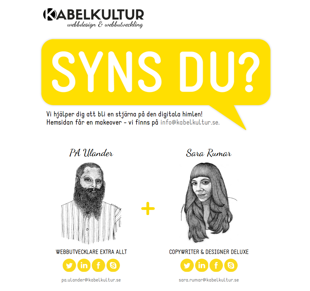 Kabelkultur Webbdesign & Webbutveckling - http://www.kabelkultur.se